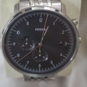 Fossil Chase Timer Chronograph Smoke Steel Watch
